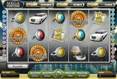 Mega Fortune Spilleplade med Symboler