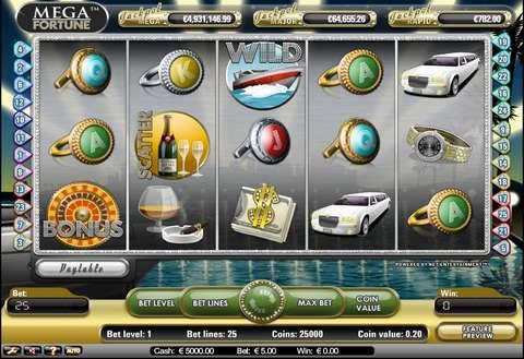 Mega Fortune Online Jackpot Spilleplade