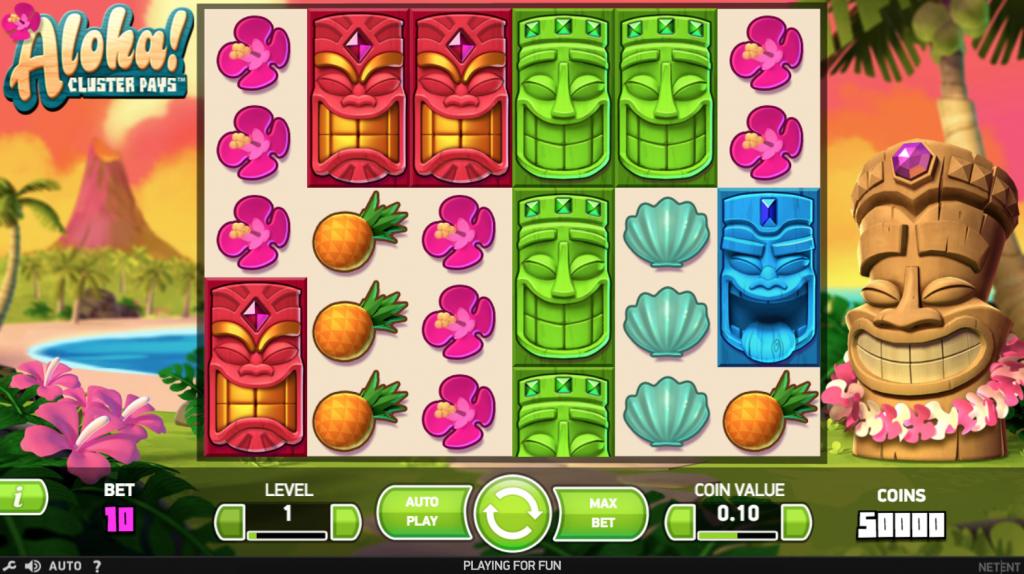 Aloha spilleautomat rækker og hjul
