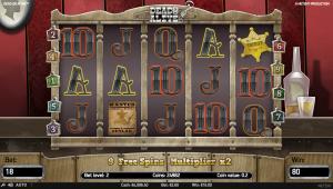 Dead or Alive spilleautomat med Free Spins bonus feature