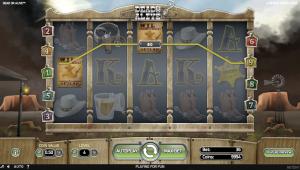 Dead or Alive spilleautomat hjul og rækker på spillet