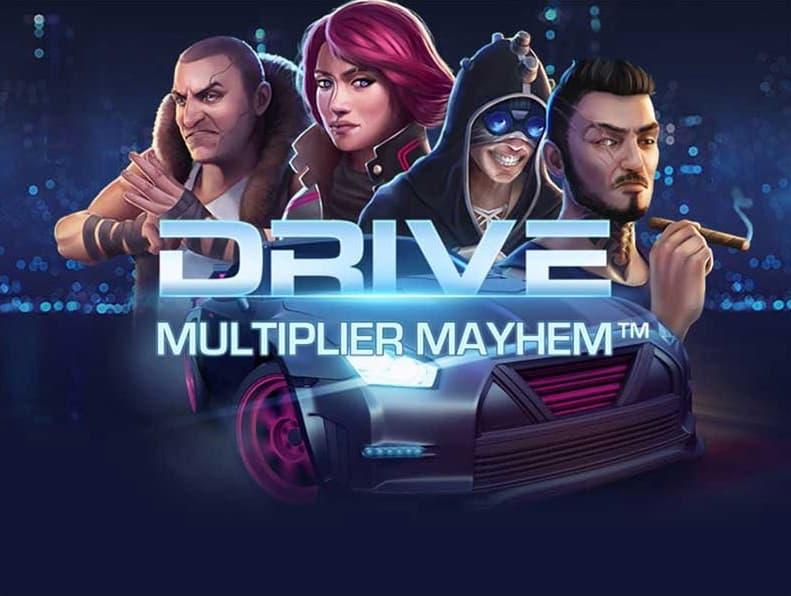 Drive Multipliers Mayhem spilleautomat banner
