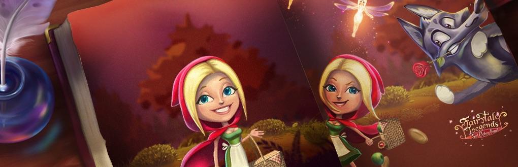 Fairytale Legends Red Riding Hood spilleautomat horisontal banner med Den Lille Rødhætte