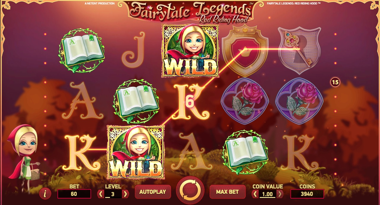 Fairytale Legends Red Riding Hood spilleautomat bonus spil