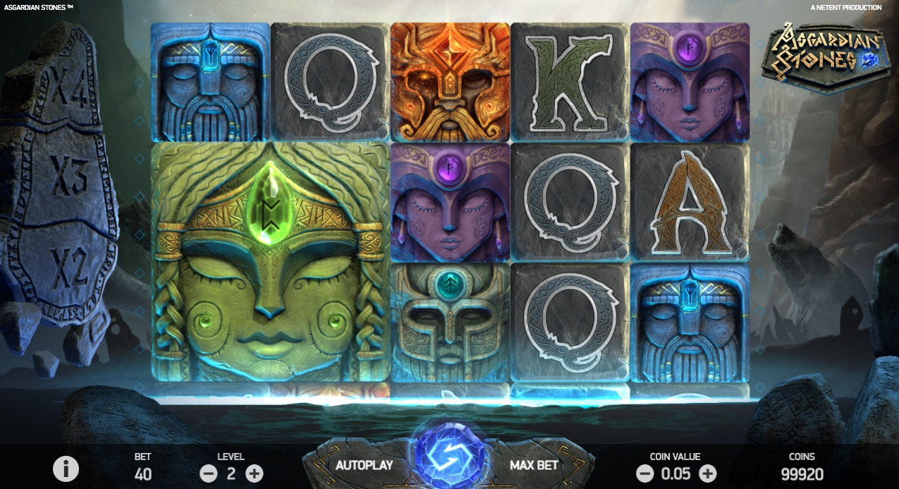 Asgardian Stones spilleautomat hjul og symboler