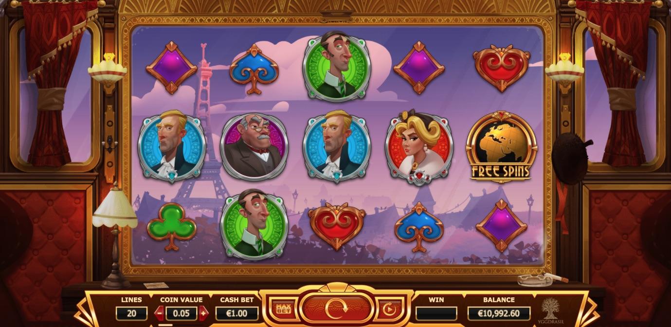 Orient Express spilleautomat hjul og symboler