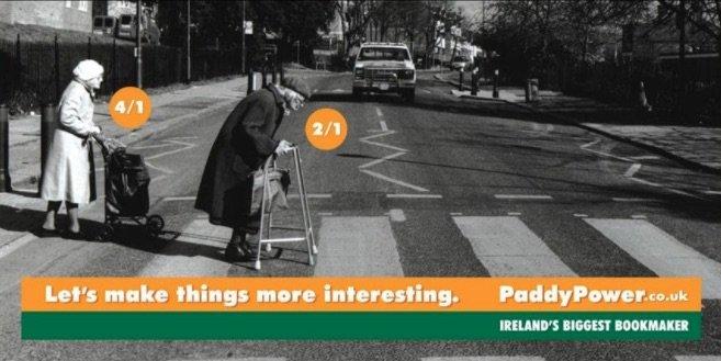 Paddy Power kontroversiel reklame som top 4 casino reklamer