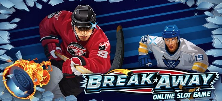 Spilleautomater med sportstema Break Away med hockey tema