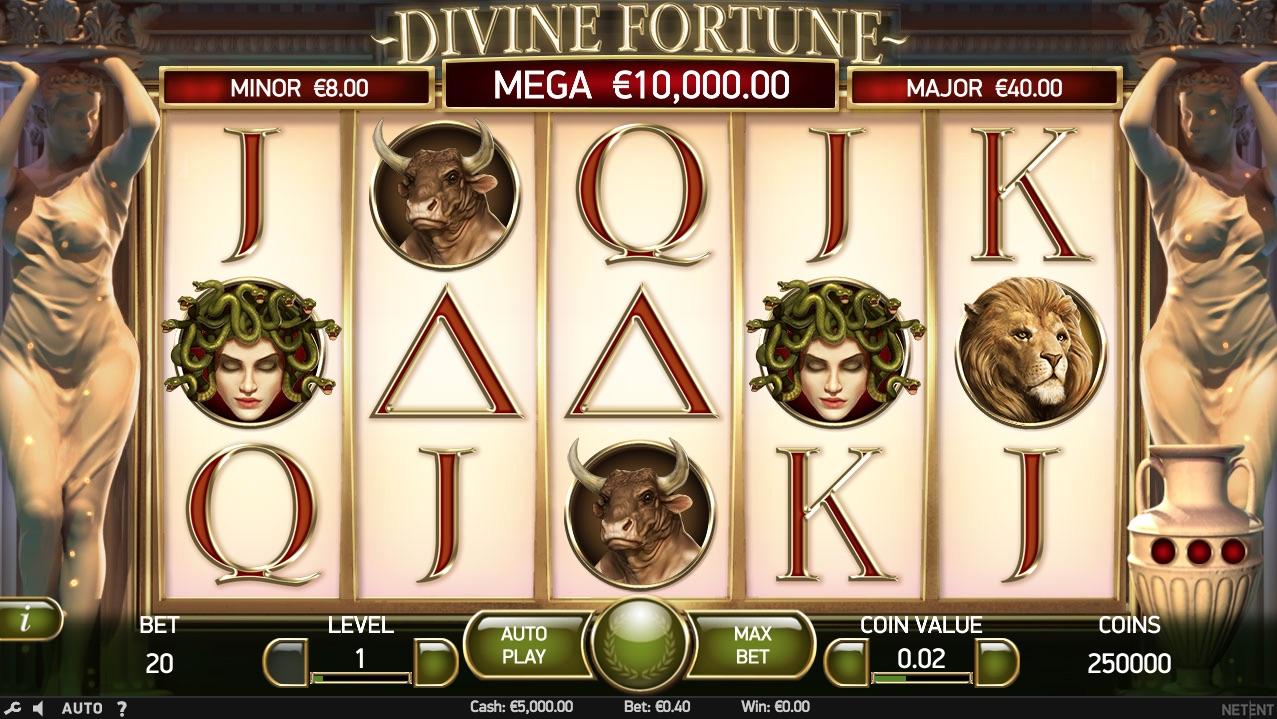 Divine Fortune spilleplade