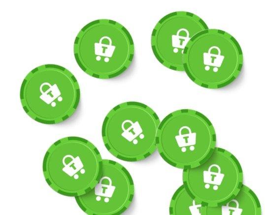 Trustly grønne mønter