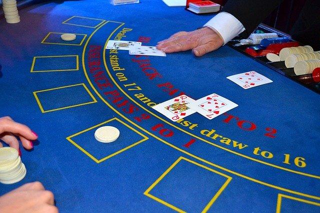 Live Casino Blackjack Spillekort og Spilleplade