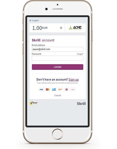 Skrill App Smartphone