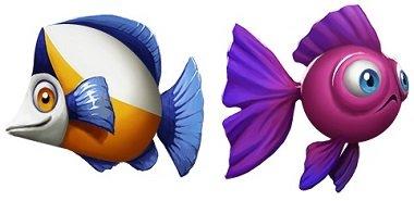 Golden Fish Tank To Fiske Symboler