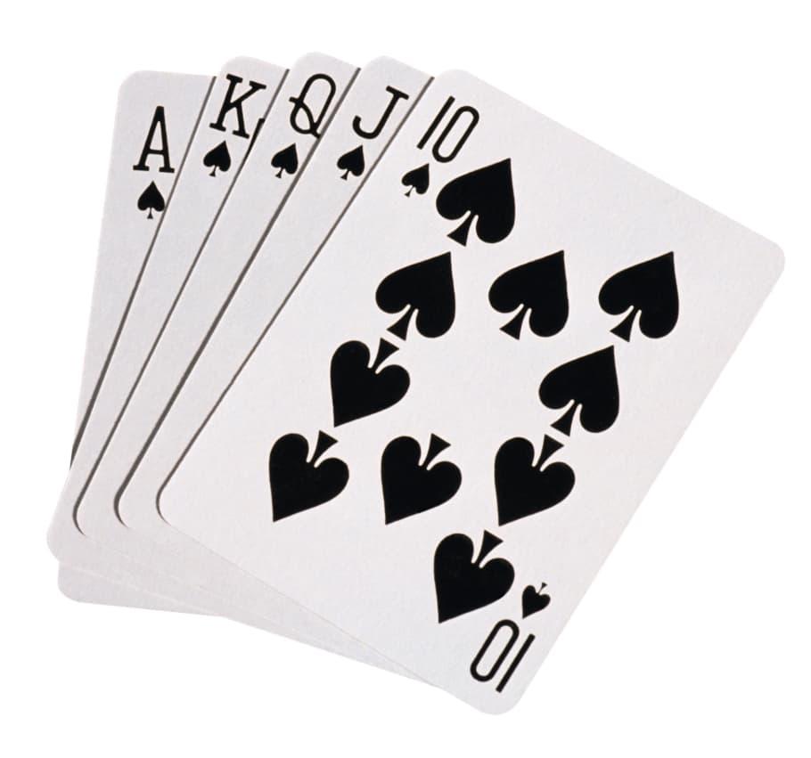Spillekort Poker Royal Flush
