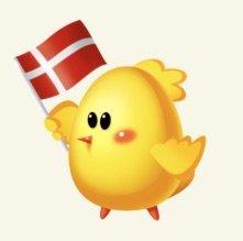 Pip.dk fugl med dansk flag