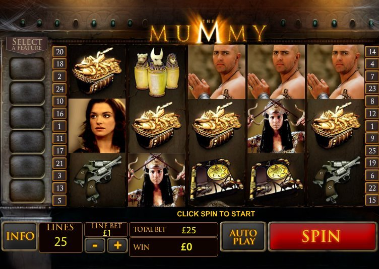 The Mummy spilleautomat spilleplade