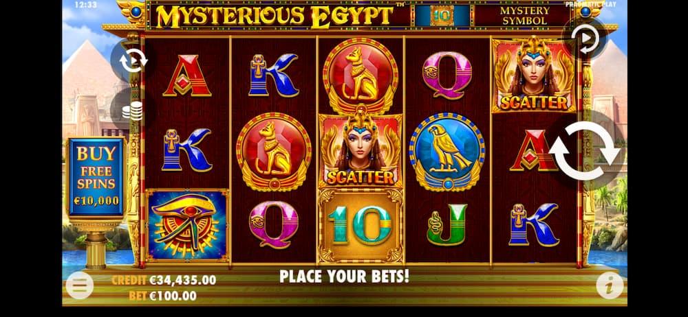 Mysterious Egypt Spilleplade