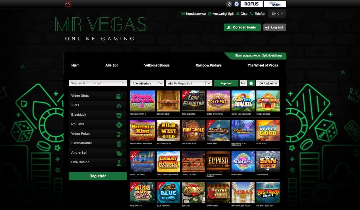 Mr Vegas Casino Spilleautomater